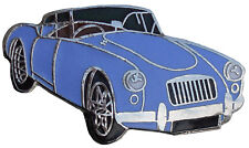 MGA car cut out lapel pin - Iris Blue