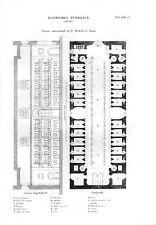 Stampa antica ROMA carcere di San Michele 1848 Old print Rome