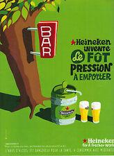 PUBLICITE ADVERTISING    1996    HEINEKEN  bière  invente le fut
