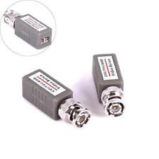 CCTV Video Balun BNC to CAT5 UTP Cable Power Adapter PAIR For AHD HD TVI CVI UK