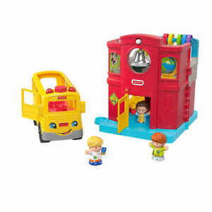 New Fisher-Price Little People Welcome to School Gift Set Bus Schoolhouse Class