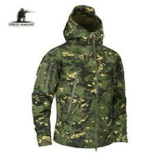 Impermeable chaqueta de abrigo de hombre Táctico Ejército Chaqueta Cazadora Abrigo Sz