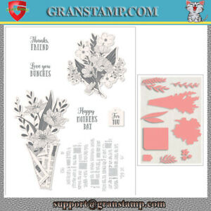 WRAPPED BOUQUET Metal Cutting Dies and stamps (Price include STAMP and DIE)