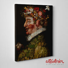QUADRO Giuseppe ARCIMBOLDO - PRIMAVERA - Stampa FINE ART su tela CANVAS Arredo