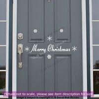 Christmas Door Sticker, Xmas wall art, Snowflakes stickers, Christmas decor