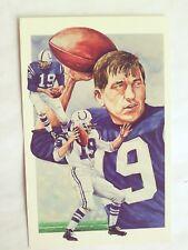 Johnny UNITAS, Legends Sports Memorabilia -Postcard- 1991/Free Ship.  USA