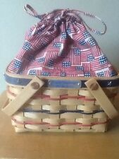 Longaberger 2002 Bee Basket Combo with Liner and Protector & Bonus Bee Pin