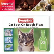 Beaphar Spot On Flea Repel Drops Treatment Solution 12 Weeks Protection For Cats