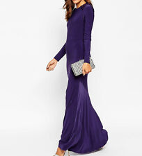 Branded Purple Embellished Shoulder Maxi Dress UK8/EU36/US4   zz2
