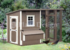 4' x 8' Combination Modern Chicken Coop Plans, Material List Included #80408CM