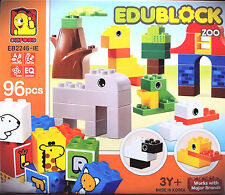 Edublock ZOO - 96 pcs - Brick Blocks - EB2246-IE - 3+ Years ** GREAT GIFT **