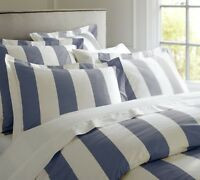 Hamptons Doona Duvet Queen Quilt Cover Set Blue And White 210 x 210 cm