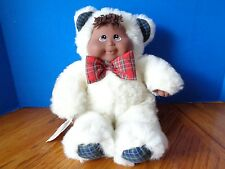 "15"" AFRICAN AMERICAN KUDDLE LOVE KIDS CHRISTMAS BEAR DOLL - MADE IN 1999"