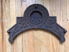 "Antique Victorian Cast Iron Stove Pediment 3"" Tile Holder Eastlake 1890"