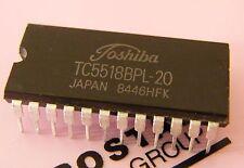 8x TC5518BPL-20 2kx8 200ns CMOS SRAM, Toshiba