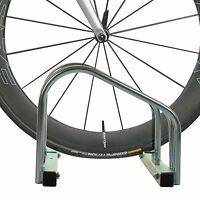 2 SLOT FLOOR WALL MOUNTED BIKE CYCLE BICYCLE STAND GALVANIZED PARKING STORAGE RA