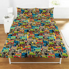 Doctor Who Comics Double Duvet Cover and Pillowcase Set Official Bedding