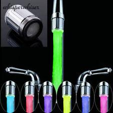 7 LED Farben Wasser Hahn Licht ändern Glühen Dusche Kopf Küche Hahn Neu