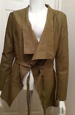 NEW Cigno Nero Carmine Leather Jacket - Fossile - Size 36