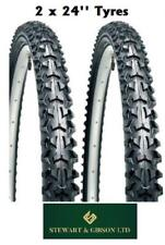 """2 x Bicycle Tyres Bike - Mountain BMX Off Road - 24"""" inch - High Quality"""