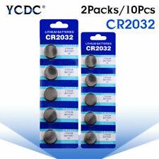 10PCS CR2032 DL2032 KCR2032 5004LC ECR2032 3V Coin Cell Battery For Main Board