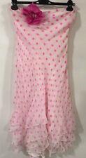 New Ralph Lauren Black Label Silk White Pink polka dot summer dress 6 US $1980
