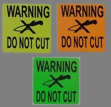 Warning Do Not Cut 50x50mm Stickers Qty 30