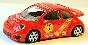VW Volkswagen New Beetle Rsi 2001 #3 Red 1:43 Bburago