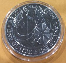 2008 Great Britain 1 oz Silver Britannia BU - 100,000 Mintage, in AirTite