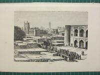 C1890 Antico Stampa ~ Vista Di Khiva