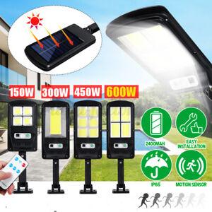 300/450W LED Solar Power Outdoor Wall Street Light PIR Motion Sensor Lamp