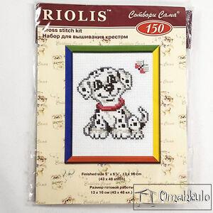 RIOLIS - Cross Stitch Kit - Dalmation Dog - 13 x 16cm - Kit No. 150