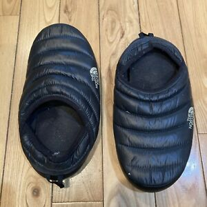 Mens The North Face Thermoball Slippers Size 8 Black Puffer
