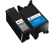 2 Pack Series 21 22 23 24 Black & Color Ink Cartridges for Dell Y499D Y498D