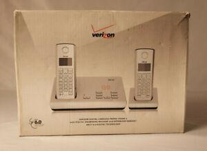 New Verizon 100AM-2 Digital Answering Machine w/ 2 Cordless Handsets