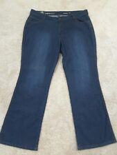AVENUE Womens Plus Size 20 Average Santa Fe Bootcut Dark Blue Jeans  NWT