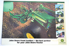 Original JOHN DEERE Front Loader Models Promotion Brochure English Text