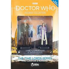 More details for doctor who romana & the curator figurine time lords set #1 eaglemoss