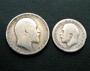 George V & Edward VII silver coins