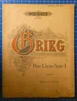 Edition Peters No.2420 Grieg Peer Gynt Suite I Opus 46 Klavier zu 2 Händen H8164