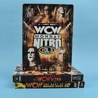 The Very Best Of WCW Monday Night Nitro - Volume 1 + 2 + 3 - WWE DVD Lot - Vol.