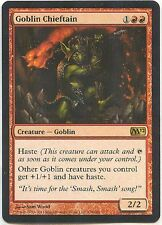 GOBLIN CHIEFTAIN X1  MAGIC Mtg - M12 CORE SET - LIGHTLY PLAYED (LP)
