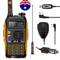 Baofeng GT-3 Mark II + Speaker + USB Cable VHF/UHF 2M/70CM Ham Two-Way Radio
