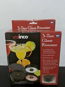 3-Tier Glass Rimmer - Sugar Salt Rim Lime - Bartender Tool