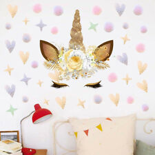 Fairy Unicorn Wall Stickers Star & Dots  Girls Kids Room  Removable Decor