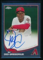 DIDI GREGORIUS AUTO 2013 TOPPS CHROME Autograph #65 NY Yankees Rookie Card RC