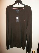 NWT Mens Large Tommy Hilfiger Brown Lightweight Sweater New
