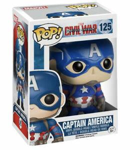 BOX DAMAGED!! Funko Pop Captain America Civil War Vinyl Marvel Collectibles #125