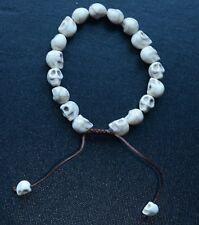 Bracelet Bangle Nepal Handmade Men Woman Jewelry Human Skull
