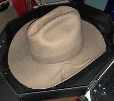 Vtg Beaver Brand 10X Tan Cowboy Hat w/ Case Quality Supply Inc. Missoula, Montan